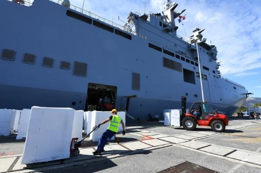Irma: la Marine envoie aux Antilles 1.000 tonnes de matériel pour la reconstruction
