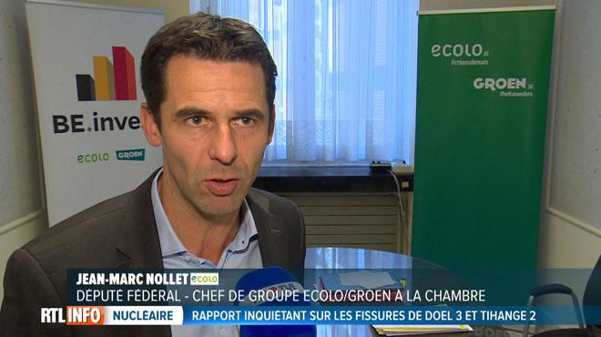 Jean-Marc Nollet, très inquiet sur l'état des centrales nucléaires: