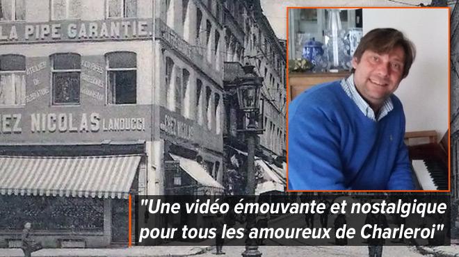 Fredéric, fier d'avoir composé la musique de cette vidéo sur le passé glorieux de Charleroi: