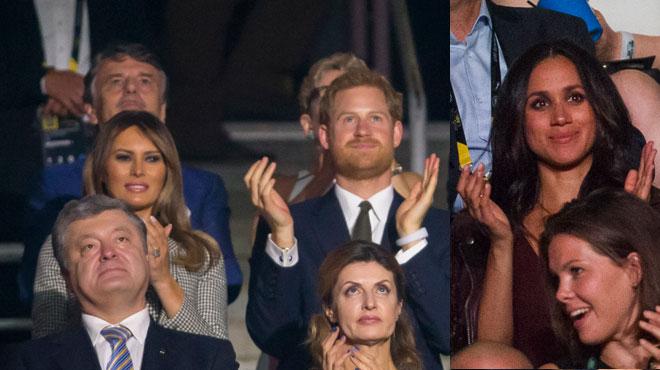 Le prince Harry et Meghan Markle pour la première fois au même événement public, mais elle a dû rester plusieurs rangs derrière lui (photos)