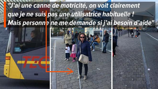 MALVOYANTE, Isabel raconte ses déplacements en bus à Liège: