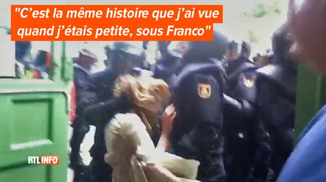Rosa Maria, une Barcelonaise, témoigne à RTL des violences qu'elle a vécues durant le vote