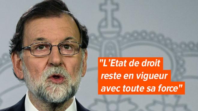 L'État de droit s'est imposé en Catalogne, dit Rajoy