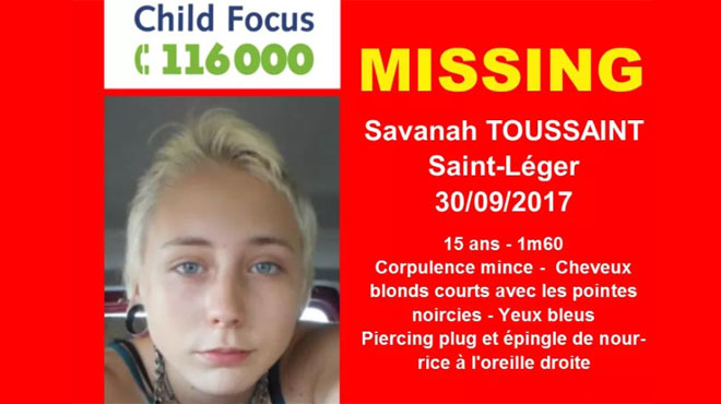 Avis de disparition lancé pour une adolescente de Saint-Léger