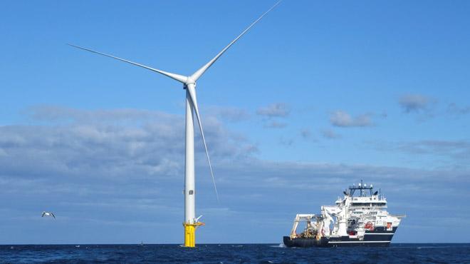 Parcs éoliens en pleine océan Atlantique:
