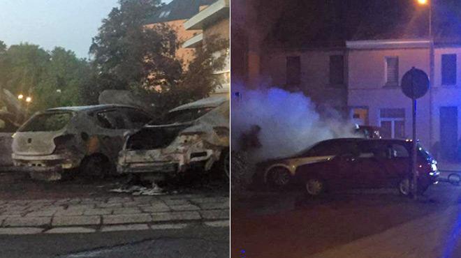 Trois voitures incendiées à La Hestre:
