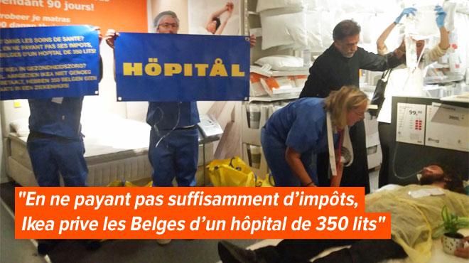 Déguisés, des dizaines d'activistes prennent d'assaut l'Ikea d'Anderlecht pour faire passer un message (vidéo)