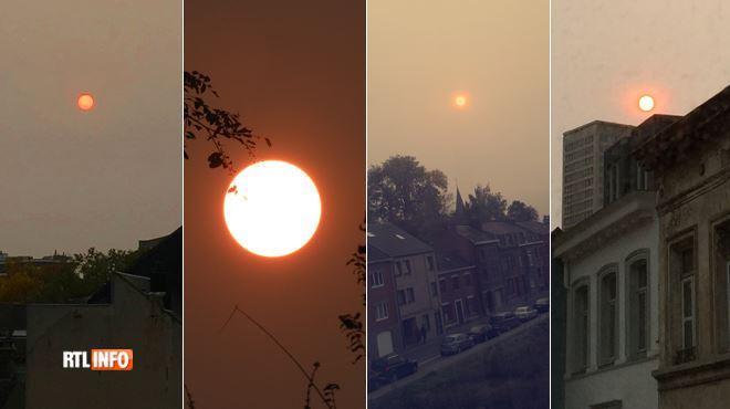 SOLEIL ROUGE- de nombreux témoins observent un phénomène étrange dans le ciel (photos) 1