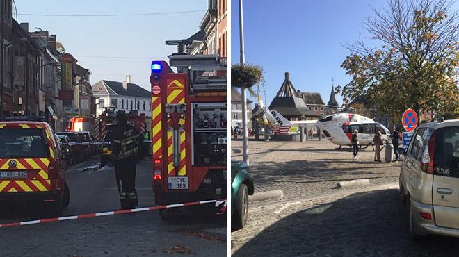 Explosion dans un restaurant chinois à Philippeville: 3 blessés, une conduite de gaz a été percée pendant des travaux