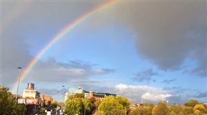 """La pluie fait son retour... mais elle amène avec elle de jolis spectacles: """"Magnifique arc-en-ciel"""" (photos)"""
