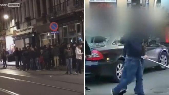Un conflit entre Kurdes et Turcs dégénère à nouveau à Anvers: une centaine de personnes attaquent la police, De Wever interdit tout rassemblement