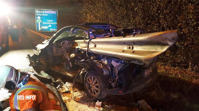 Tragique accident sur la E42 à Sambreville: un jeune père de famille décède après avoir percuté le rail de sécurité