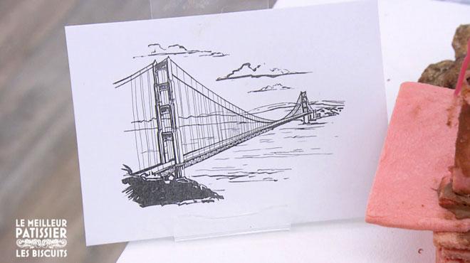 Gros flop au meilleur pâtissier: Laurence, la candidate belge devait réaliser le Golden Gate Bridge en biscuits