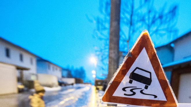 Automobilistes attention, du verglas est attendu cette nuit sur presque toutes les routes du pays