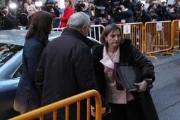 Crise en Catalogne - La présidente du parlement écrouée jusqu'au versement d'une caution de 150.000 euros