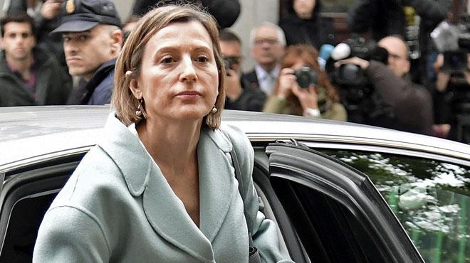 Poursuivie pour rébellion, la présidente du parlement catalan a versé une caution pour être libérée