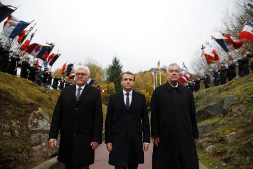Macron et Steinmeier célèbrent le souvenir de 1914-18 en appelant à refonder l'Europe