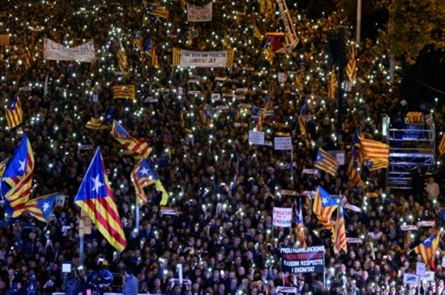 Le chef du gouvernement, Mariano Rajoy, en Catalogne — Espagne