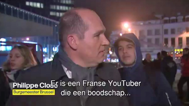 Philippe Close, perturbé en pleine interview par un jeune provocateur, réagit avec fermeté (vidéo)