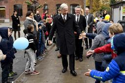Le Roi Philippe inaugure la semaine de la lecture en Flandre dans une école primaire