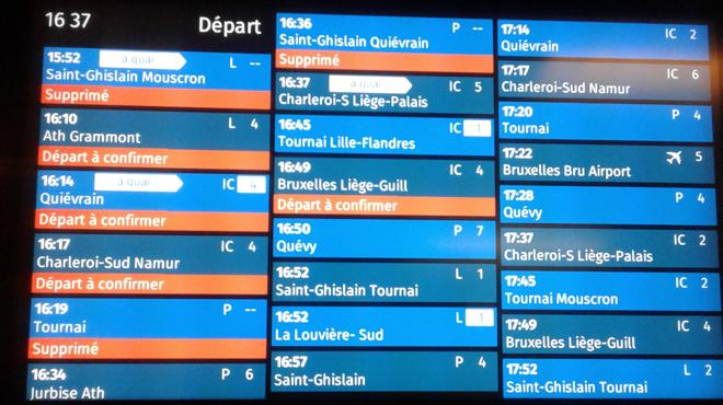 Un corps sur les voies à Jemappes: le trafic des trains interrompu en Mons et Saint-Ghislain