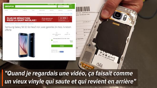 Le risque des achats de smartphones sur Groupon: Julie croit acquérir un Samsung neuf, mais