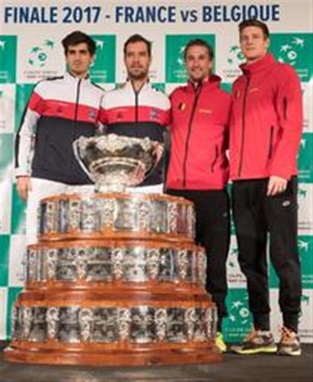 Coupe Davis (finale) - France-Belgique : Les équipes attendues sont alignées