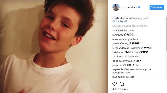 Cruz, le fils de Victoria et David Beckham, est-il le futur Justin Bieber? (vidéo)