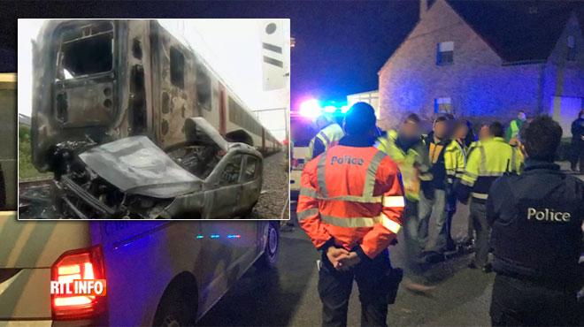 Accident de train à Morlanwelz: deux ouvriers morts, des voyageurs blessés