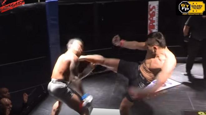 Ouille ouille ouille: sa dent fait un vol plané en plein combat MMA (vidéo)