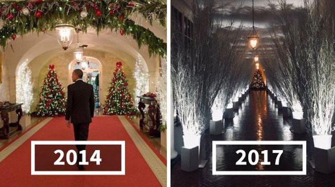 La décoration de la Maison Blanche version Trump & Melania est EFFRAYANTE ! Les détournements, eux, sont hilarants! (photos)