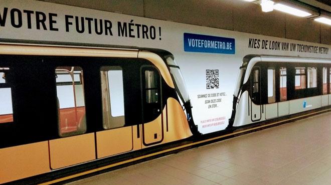 Bronze ou argent? Découvrez de quelle couleur seront les nouvelles rames du métro bruxellois