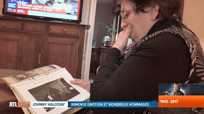 Nadine de Tournai, fan inconditionnelle de Johnny, est effondrée: