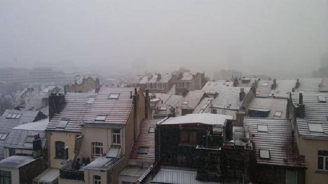 Un dimanche venteux sous la neige puis la pluie