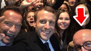Coucou!- quand (le crâne de) Charles Michel s'incruste sur un selfie de Macron 2
