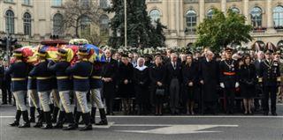 Roumanie - les monarchies européennes aux obsèques de l'ex-roi Michel
