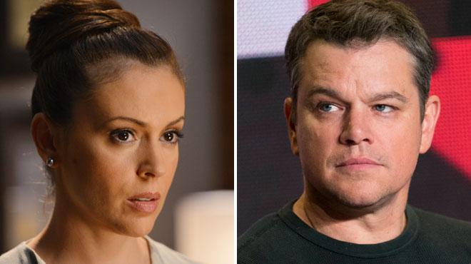 Elle clashe Matt Damon sur les abus sexuels — Alyssa Milano
