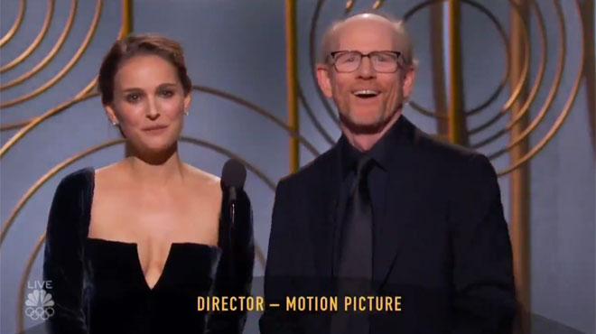 Natalie Portman: la phrase qui a scotché tout le public des Golden Globes (vidéo)
