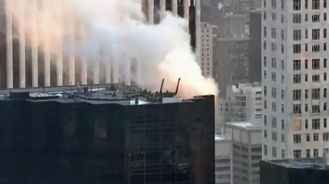 La célèbre Trump Tower de New York est en feu