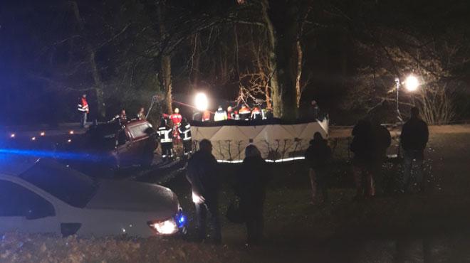 La voiture tombée dans l'Ourthe a été repêchée, mais le corps du conducteur n'était pas à l'intérieur