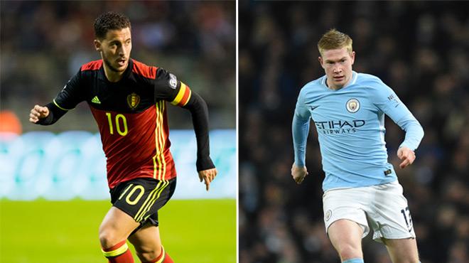 De Bruyne et Hazard dans l'équipe UEFA 2017, pas Neymar