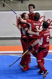 EURO HOCKEY INDOOR - La Belgique qualifiée pour les demi-finales après son succès 2-1 face à la Suisse