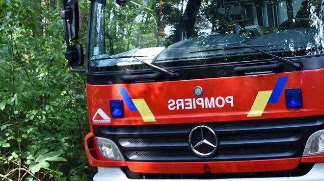 Un chalet d'habitation en feu à Ben-Ahin: un suspect interpellé par la police