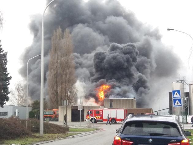 Herstal : incendie sur les Hauts-Sarts