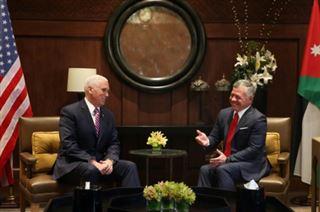 Le roi de Jordanie exprime à Pence son inquiétude au sujet de Jérusalem