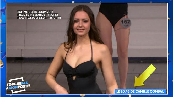 Camille Combal présente les flops de Miss top model Belgique dans TPMP