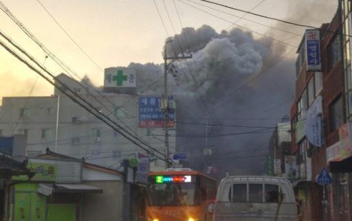 Corée du Sud: colère après l'incendie meurtrier dans un hôpital
