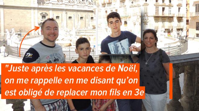 Esteban a réussi sa 3ème secondaire en Italie, mais il doit la recommencer en Belgique: