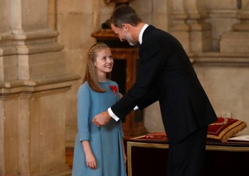 Espagne: à 12 ans, la fille aînée de Felipe VI honorée comme héritière du trône