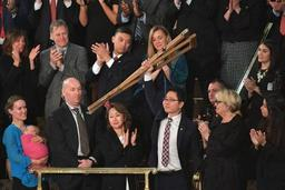 Tensions avec la Corée du Nord - Un transfuge nord-coréen salué par Trump dans son discours au Congrès